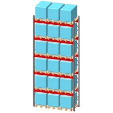 Стеллаж паллетный фронтальный СП 10500(Н)х2700х1100х120х2,0 мм ( на ярус 3 европаллетыпо 1000 кг)